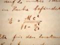 Relativiteit handschrift